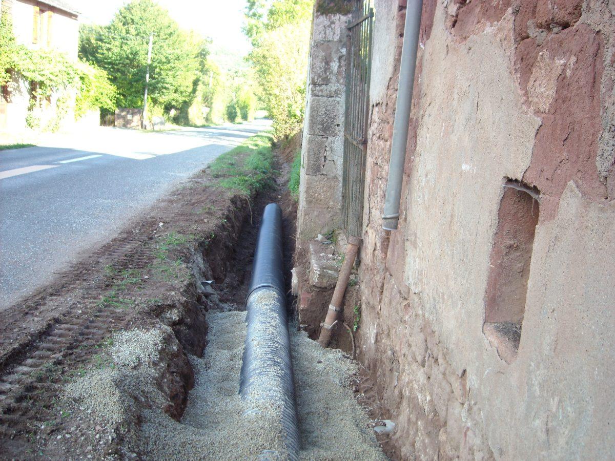 Réparation des conduites d'évacuation des eaux pluviales sur le réseau public à Glassac