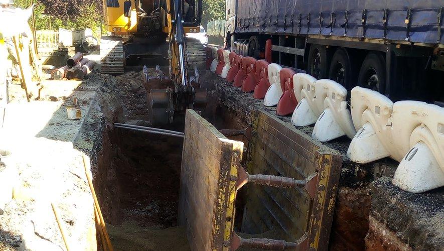 Travaux de rénovation de tous les réseaux humides sous la RD 840 en traversée du village